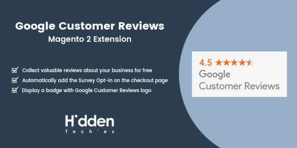 Google Customer Reviews Magento 2 Extension Best Extension