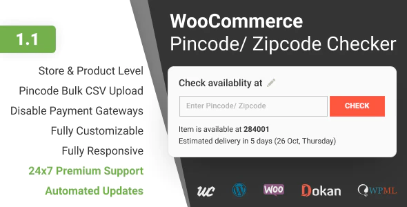 Pincode/ Zipcode Checker