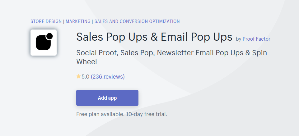 Sales Pop Ups & Email Pop Ups