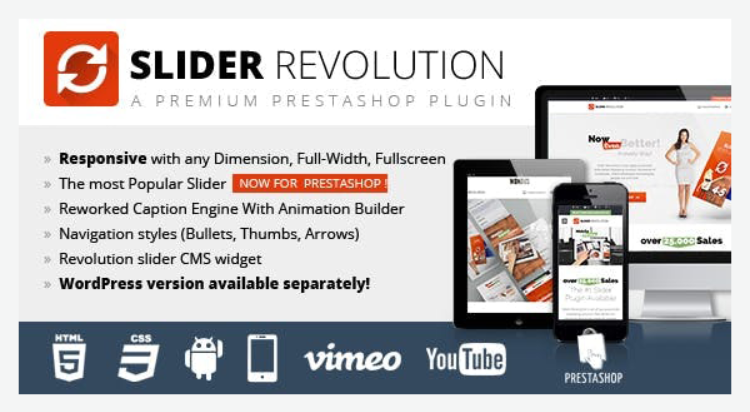 Slider Revolution Best PrestaShop Module