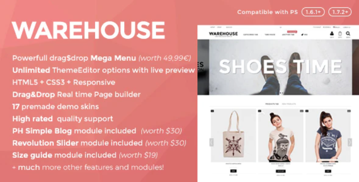 Warehouse - Responsive PrestaShop theme