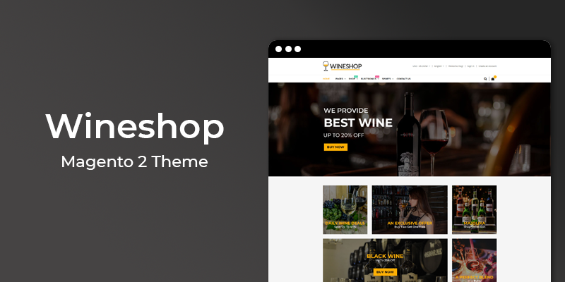 WineShop Magento 2 Theme