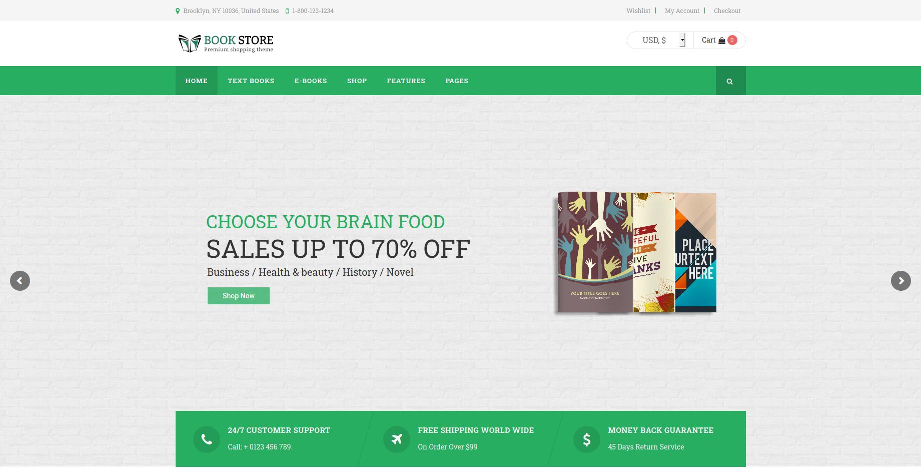 Book Store - Books & Media WooCommerce Theme