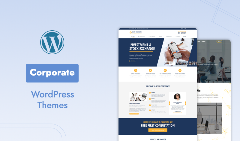 Best Selling Professional Corporate WordPress Themes