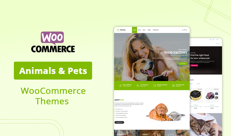 7+ Best Animals & Pets WooCommerce Themes For Your Online Store