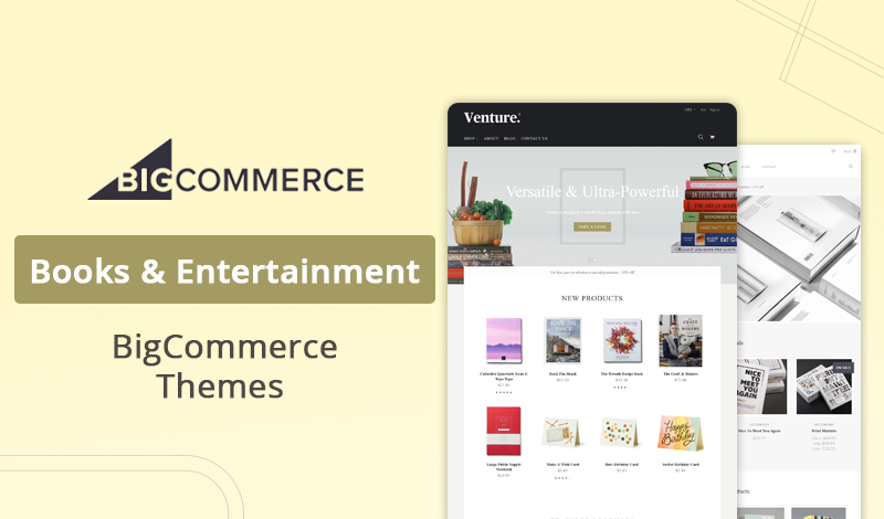 Best Books & Entertainment BigCommerce Themes for Ecommerce Store