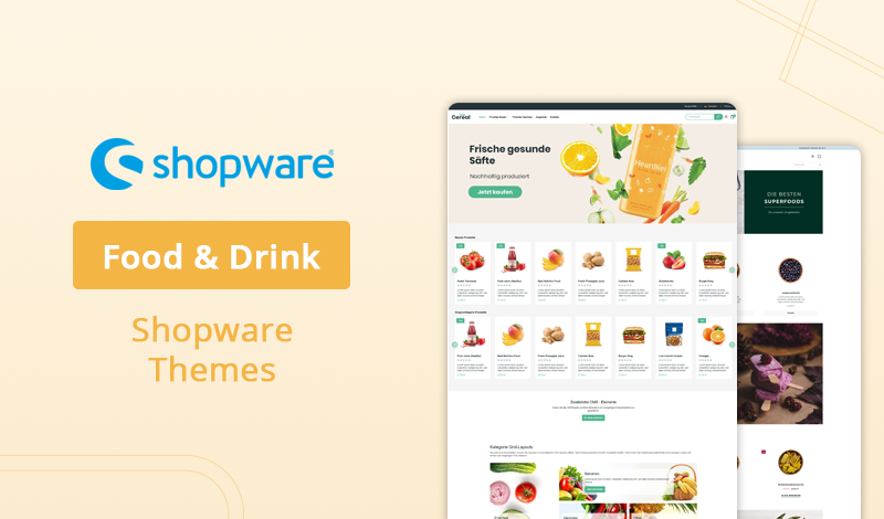 Best Food & Drink Shopware Themes for Your Ecommerce Store