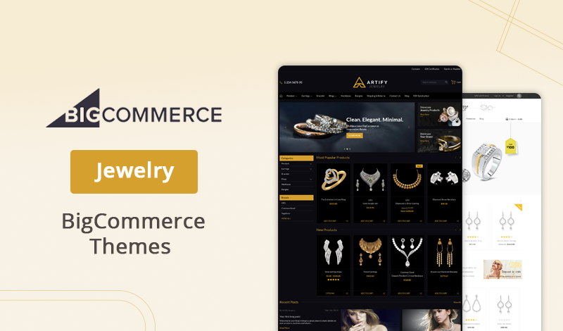 Best Gorgeous Jewelry BigCommerce Themes Design For Your Store