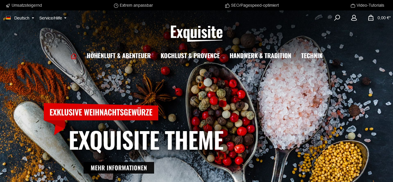 ThemeWare® Exquisite | sales increasing and customizable