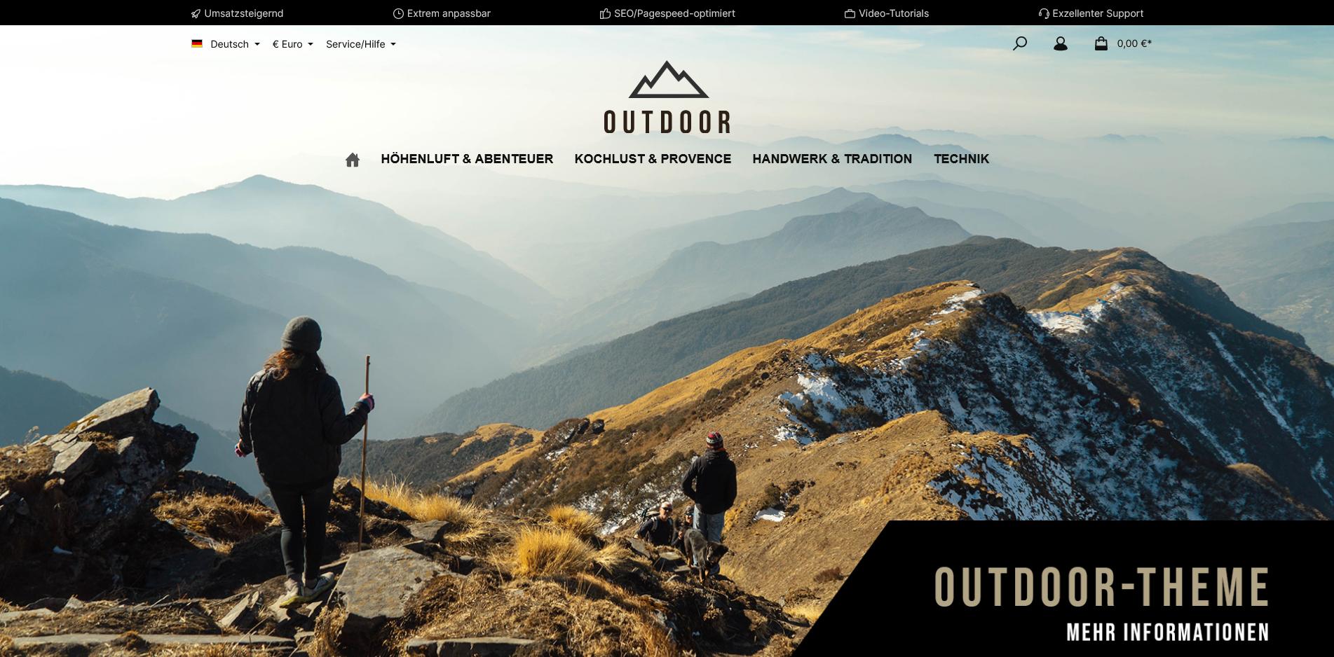 ThemeWare® Outdoor - Sports & Travel Shopware 6 Themes