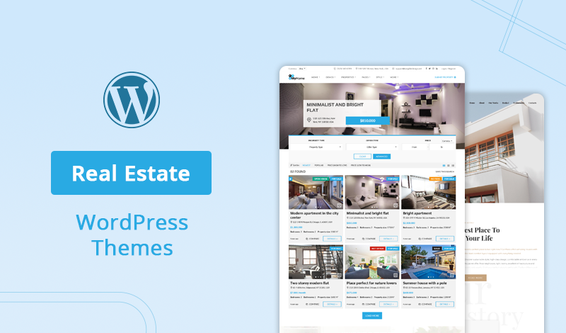 10+ Best Real Estate WordPress Themes - Responsive and Retina ready