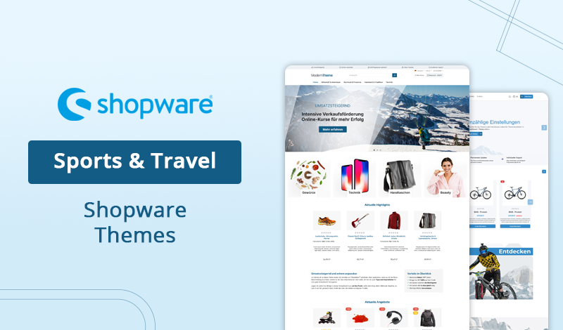 Top 7+ Sports & Travel Shopware 6 Themes for Your Online Store